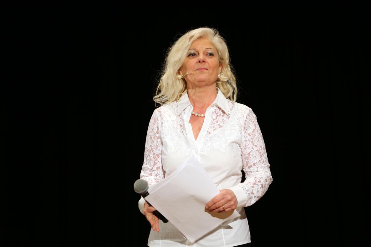 Antonella Allegrino sul palco
