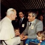 Domenico con Papa Giovanni Paolo II